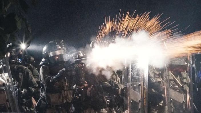 Police fired tear gas at student protesters at the Chinese University of Hong Kong in November 2019, after a stand-off lead to fierce clashes