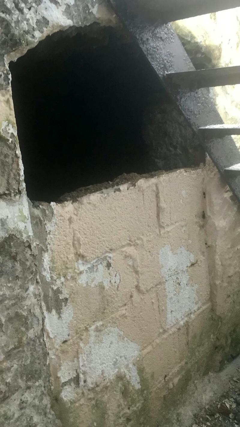 A man found a tunnel behind a wall of his house (SWNS)