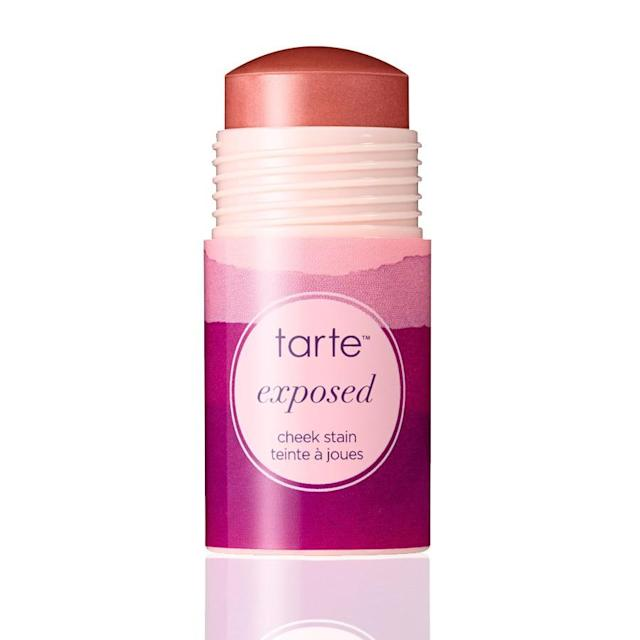 "<p>A stain has longer staying power than powder. Just dab on and blend in for a natural-looking flush.<br><a href=""http://tartecosmetics.com/tarte-shop-cheek-stain"" rel=""nofollow noopener"" target=""_blank"" data-ylk=""slk:TarteCosmetics"" class=""link rapid-noclick-resp"">TarteCosmetics</a>, $30<br>(Photo: Tarte Cosmetics) </p>"
