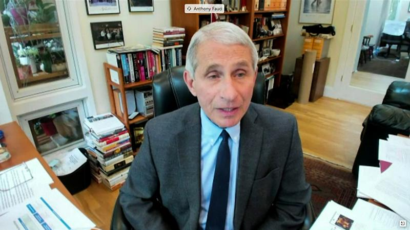 Dr. Anthony Fauci, director of the National Institute of Allergy and Infectious Diseases is seen in a frame grab from a video feed as he testifies remotely from his home during a U.S. Senate Committee for Health, Education, Labor, and Pensions hearing on the coronavirus disease (COVID-19) in Washington, U.S., May 12, 2020. U.S. (Senate Committee for Health, Education, Labor, and Pensions Committee/ via Reuters)