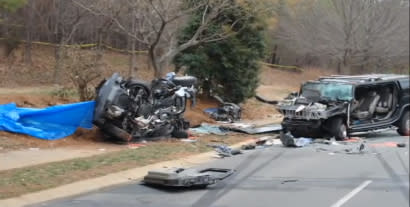 The aftermath of the tragic crash that claimed Doug Herbert's two sons, Jon and James. Photo courtesy Doug Herbert.