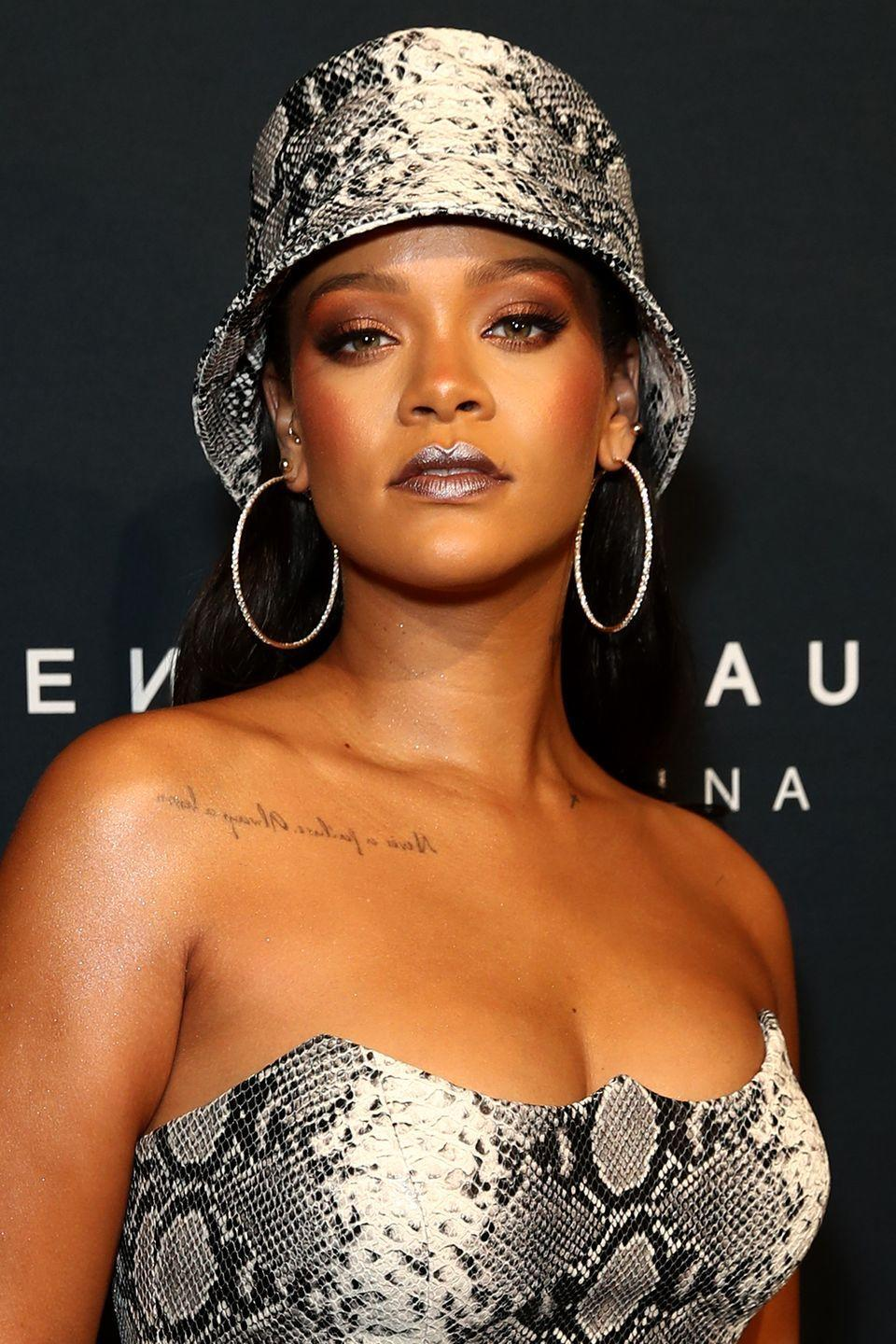 """<p><strong>Born</strong>: Robyn Rihanna Fenty</p><p>Musically, the """"Wild Thoughts"""" singer has always gone by her middle name, Rihanna. But the artist told <em><a href=""""https://www.rollingstone.com/music/news/rihanna-queen-of-pain-rolling-stones-2011-cover-story-20110606?page=3"""" rel=""""nofollow noopener"""" target=""""_blank"""" data-ylk=""""slk:Rolling Stone"""" class=""""link rapid-noclick-resp"""">Rolling Stone</a> </em>that her friends and family still call her Robyn, especially when they want to get her attention. """"I get kind of numb to hearing Rihanna, Rihanna, Rihanna,"""" she <a href=""""https://www.rollingstone.com/music/news/rihanna-queen-of-pain-rolling-stones-2011-cover-story-20110606?page=3"""" rel=""""nofollow noopener"""" target=""""_blank"""" data-ylk=""""slk:told"""" class=""""link rapid-noclick-resp"""">told</a> the publication. """"When I hear Robyn, I pay attention.""""</p>"""