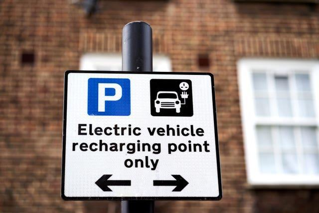 Charging point sign