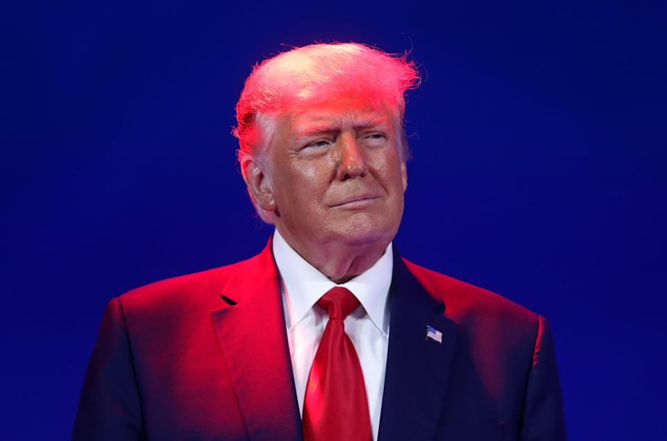 <p>Trump hints he will run again in 2024 and claims Biden 'lost the White House'</p> (Reuters)