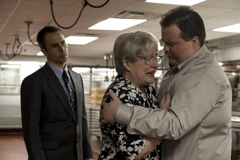 "L-r) SAM ROCKWELL as Watson Bryant, KATHY BATES as Bobi Jewell and PAUL WALTER HAUSER as Richard Jewell in Warner Bros. Pictures' ""RICHARD JEWELL,"" a Warner Bros. Pictures release. Credit: Claire Folger/Warner Bros. Pictures"