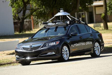 FILE PHOTO - An autonomous version of Acura's RLX Sport Hybrid SH-AWD drives at carmaker Honda's testing grounds at the GoMentum Station autonomous vehicle test facility in Concord