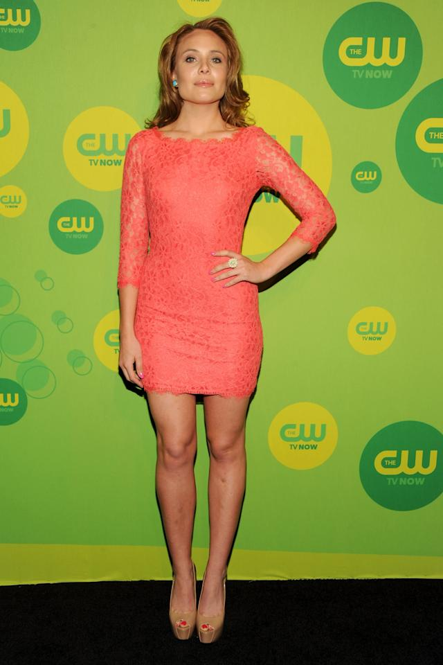 NEW YORK, NY - MAY 16:  Actress Leah Pipes attends The CW Network's New York 2013 Upfront Presentation at The London Hotel on May 16, 2013 in New York City.  (Photo by Ben Gabbe/Getty Images)