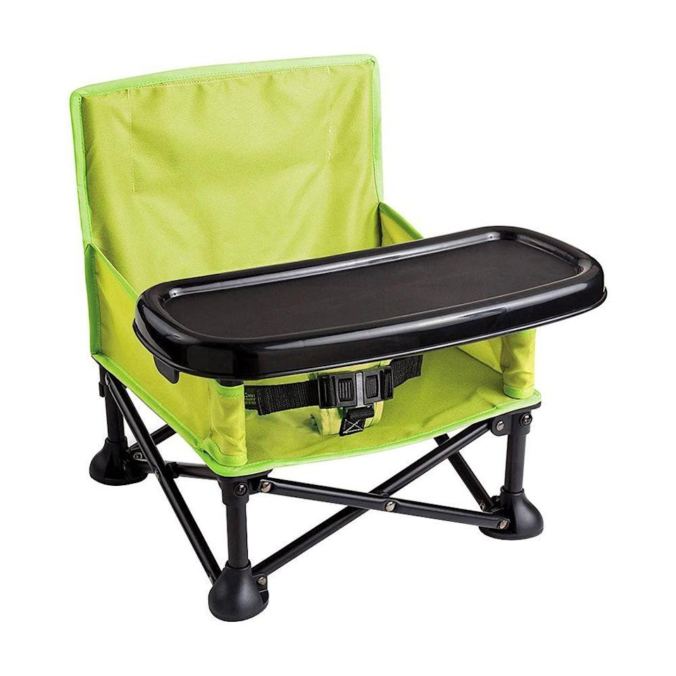 """<p><strong>Summer Infant</strong></p><p>amazon.com</p><p><strong>$29.99</strong></p><p><a href=""""https://www.amazon.com/dp/B01AZC36Z8?tag=syn-yahoo-20&ascsubtag=%5Bartid%7C2089.g.113%5Bsrc%7Cyahoo-us"""" rel=""""nofollow noopener"""" target=""""_blank"""" data-ylk=""""slk:Shop Now"""" class=""""link rapid-noclick-resp"""">Shop Now</a></p><p>This portable Summer Infant pop-and-sit floor seat can go from the playroom to the backyard in a snap. It's durable enough to handle both indoor and outdoor fun. </p><p>The harness keeps your little one safe while sitting, and the removable tray creates the ideal snack spot.</p>"""