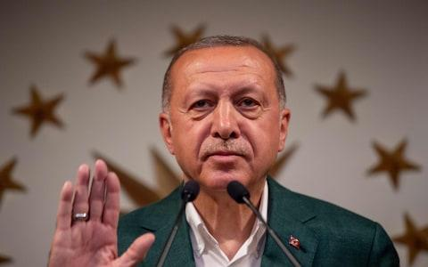Mr Erdogan appears to have miscalculated by forcing a re-run of the election - Credit: BULENT KILIC / AFP