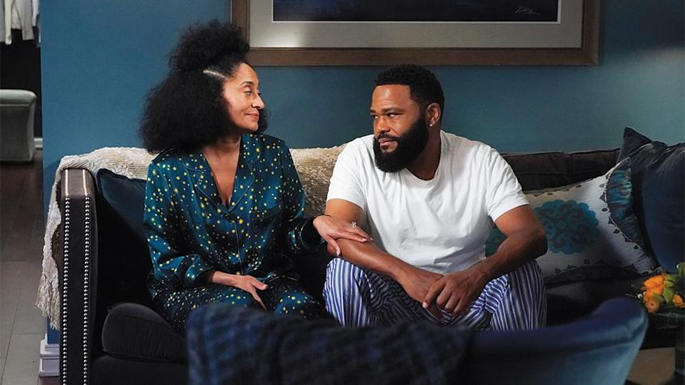 """Tracee Ellis Ross (left, with Anthony Anderson) picked up her fifth Emmy nom for """"Black-ish"""" this year. - Credit: ABC"""