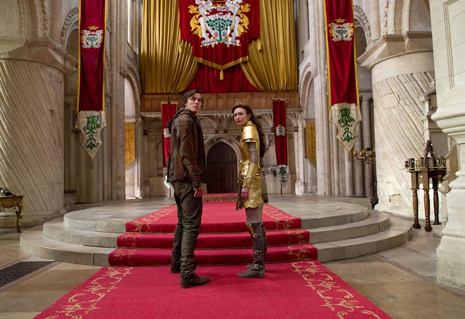 """Nicholas Hoult and Eleanor Tomlinson in Warner Bros. Pictures' """"Jack the Giant Slayer"""" - 2013"""