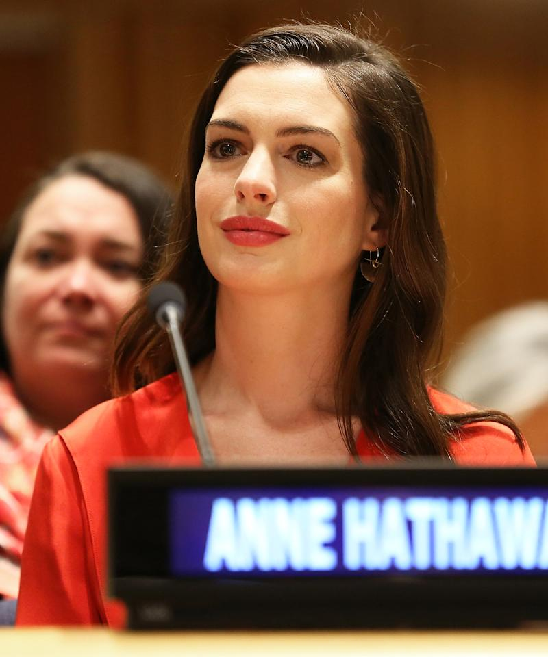 Anne Hathaway's Son Made His Instagram Debut Watching Mom
