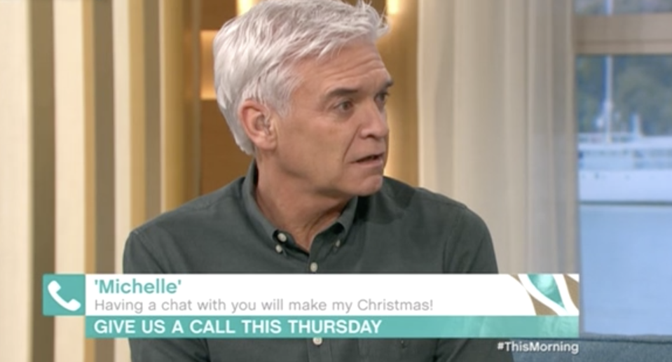 Phillip Schofield heard from an appreciative This Morning viewer. (ITV)