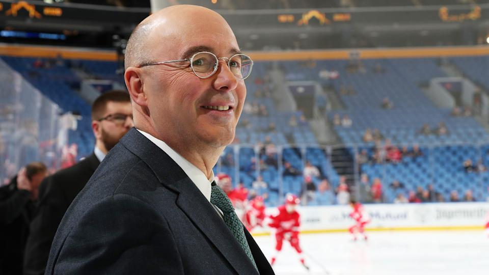 The Ottawa Senators wasted no time scooping up free agent Pierre McGuire. (Photo by Bill Wippert/NHLI via Getty Images)