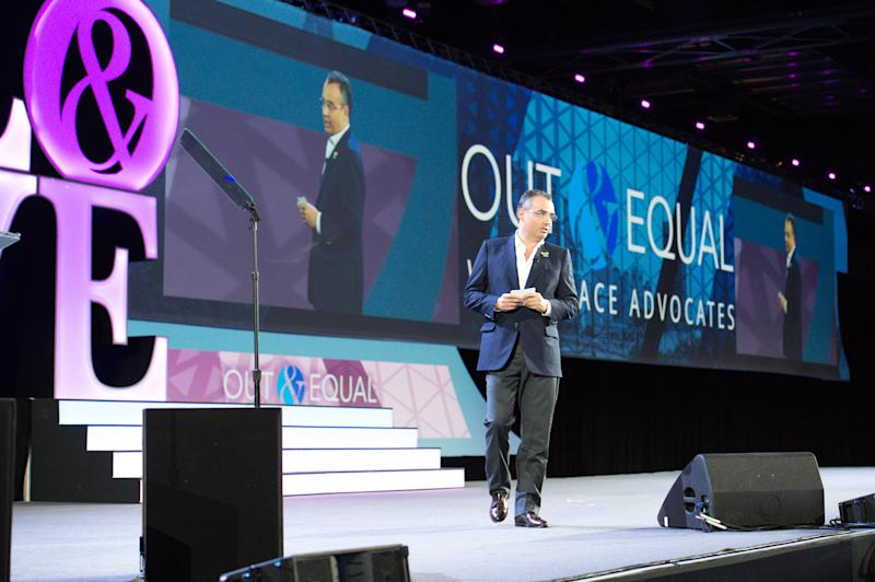 José Berenguer at the Out&Equal conference in Philadelphia. Photo: Out & Equal/JPMorgan