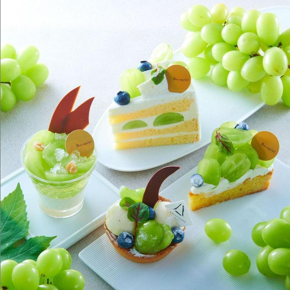 a selection of desserts