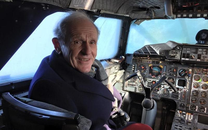 Tony Meadows in the cockpit of Concorde in Bristol. - Anthony Ward / @bbcpointswest
