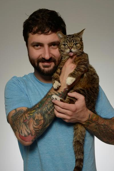 Mike Bridavsky (pictured April 2013) started a nationl fund for special needs pets, the first of its kind, with Lil Bub serving as its face (AFP Photo/Larry Busacca)
