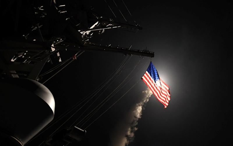 U.S Navy guided-missile destroyer USS Porter in the Mediterranean Sea overnight - Credit: REUTERS