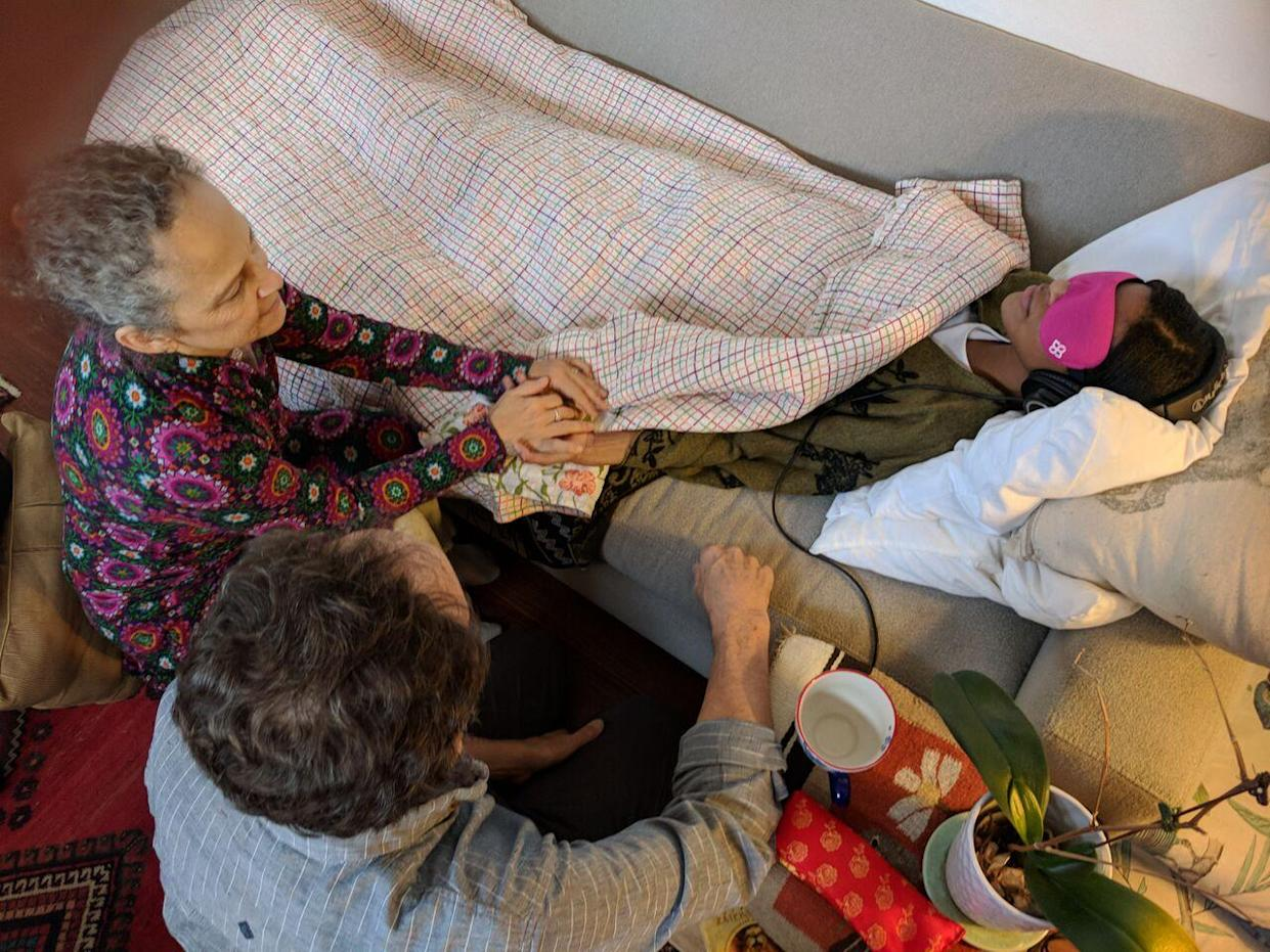 Therapists conduct a phase two clinical trial of an MDMA-assisted psychotherapy session in Boulder, Colo. (Photo: MAPS)