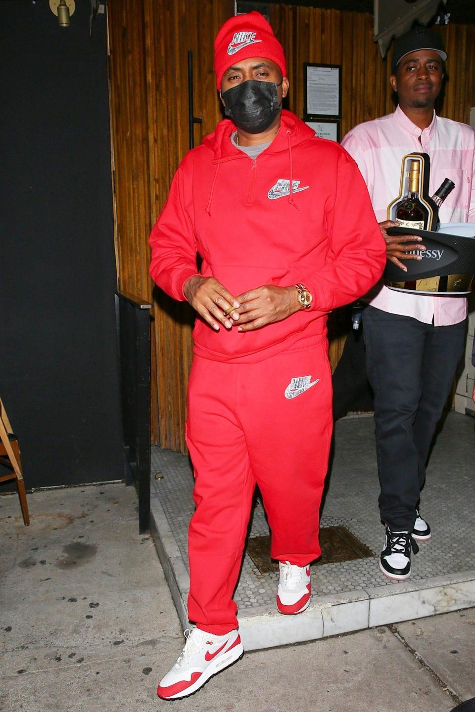 <p>Rapper Nas leaves The Nice Guy in Hollywood on Tuesday.</p>
