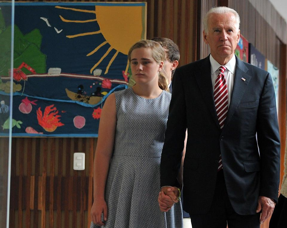 <p>Maisy is the youngest daughter of Hunter Biden and his first wife, Kathleen. She has two older sisters - Naomi and Finnegan - and a baby half-brother, Beau. </p>