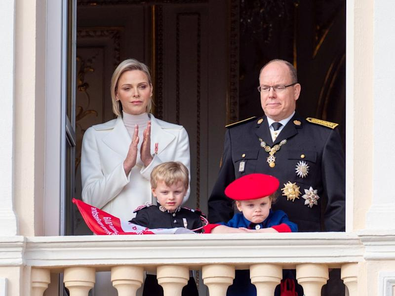 Prince Albert, Princess Charlene, Prince Jacques and Princess Gabriela during the Monaco National Day Celebrations on November 19, 2019. | Arnold Jerocki/Getty