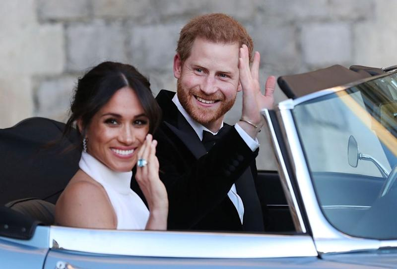 Meghan Markle and Prince Harry | STEVE PARSONS/AFP/Getty