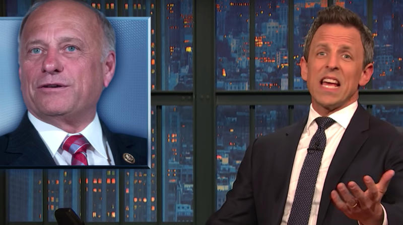 Seth Meyers Points Out Fatal Flaw With Rep. Steve King's Civil War Meme