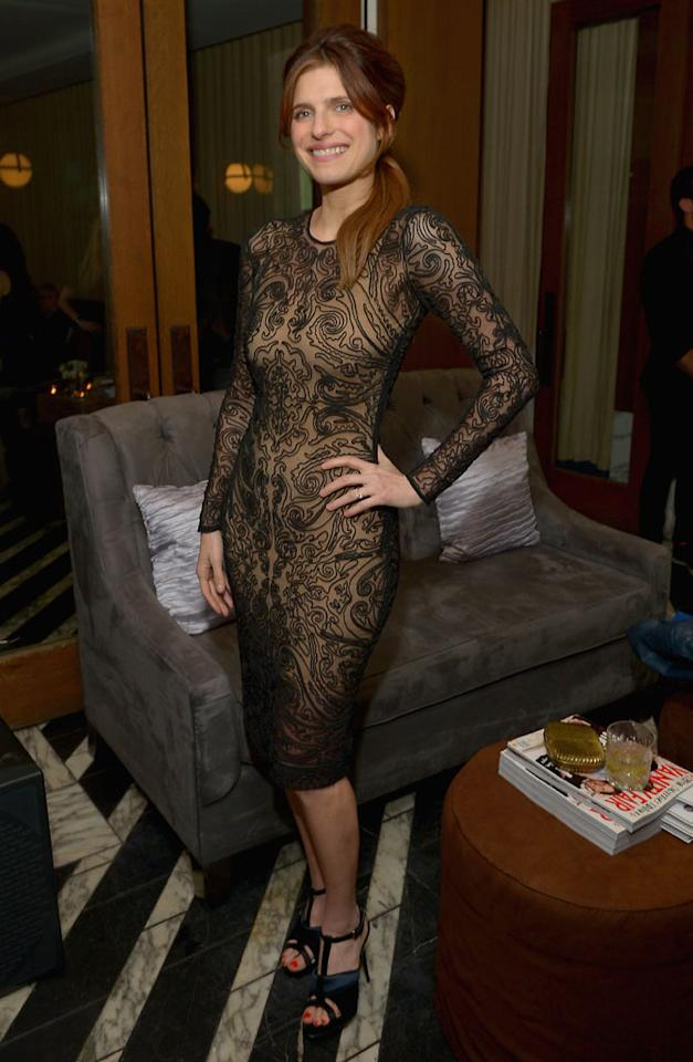 Lake Bell attends Vanity Fair and the Fiat brand Celebration of ìUna Notte Verdeî with Hans Zimmer and Ron Howard in support of The United Nationsí International Labour Organization and the Green Jobs Programme on Thursday, February 21, 2013 at Cecconiís in West Hollywood, California