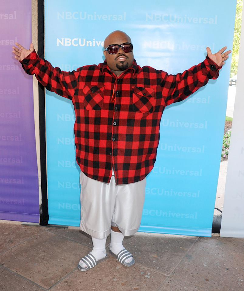 """Cee Lo Green (""""<a href=""""http://tv.yahoo.com/voice/show/47012"""">The Voice</a>"""") arrives at NBC Universal's 2012 Summer Press Day at The Langham  Huntington Hotel and Spa on April 18, 2012 in Pasadena, California."""