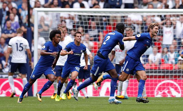 Chelsea, Marcos Alonso spoil Spurs' Wembley opener