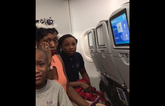Cameron Burke and his wife and two children were ejected from a JetBlue flight due to a conflict over a birthday cake. (Photo: Twitter)