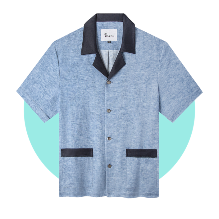 """$128, Tombolo. <a href=""""https://www.tombolocompany.com/collections/frontpage/products/black-tie-optional-cabana-something-blue"""" rel=""""nofollow noopener"""" target=""""_blank"""" data-ylk=""""slk:Get it now!"""" class=""""link rapid-noclick-resp"""">Get it now!</a>"""