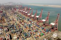 The price to ship a 40-foot container from Lianyungang Port to the United States has soared to more than $10,000, from the usual $2,000-$3,000