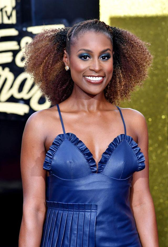 Issa Rae was a beautiful breath of fresh air on the 2017 MTV Movie and TV Awards red carpet. (Photo: Getty Images)