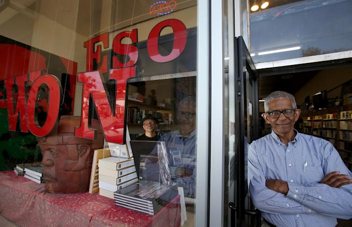 "Eso Won bookstore co-owner James Fugate in 2014. <span class=""copyright"">(Luis Sinco / Los Angeles Times)</span>"