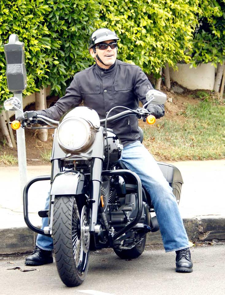 """George Clooney gets our motors runnin' every time we see him straddling his motorcycle. IONU/<a href=""""http://www.x17online.com"""" target=""""new"""">X17 Online</a> - September 12, 2008"""
