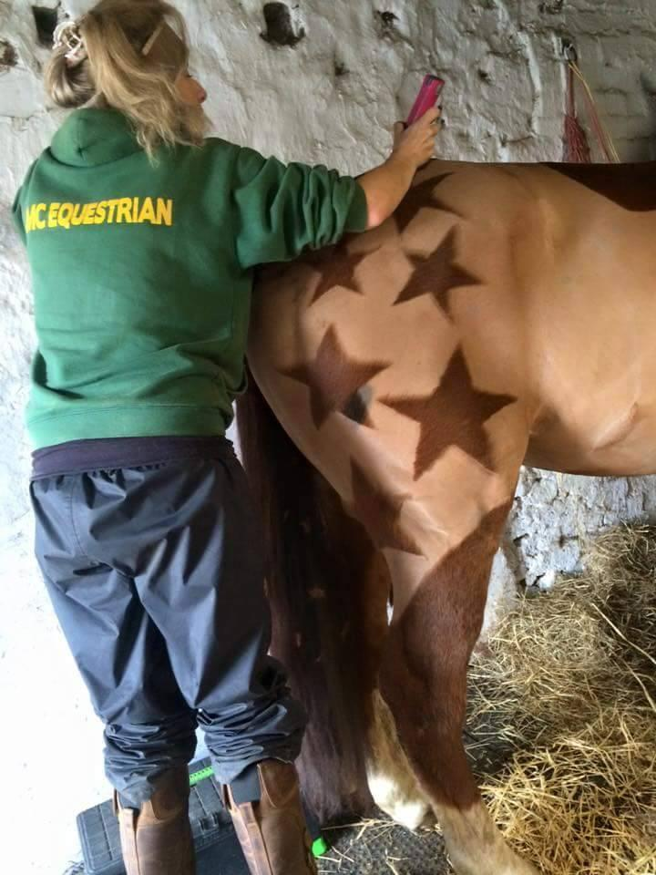 Hames working her artistic magic on this star. (Photo: Facebook)