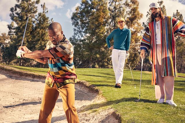 """<cite class=""""credit""""><em>From left</em> <strong>On Schoolboy Q:</strong> Shirt, $1,070, by Missoni / Pants, $118, by Carhartt WIP / Sunglasses, $1,075, by Jacques Marie Mage / Cuff, stylist's own 