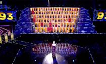 """The singing competition with a twist which had Spice Girl Geri Horner as one of its 100 judges was <a href=""""https://www.digitalspy.com/tv/reality-tv/a28128031/all-together-now-bbc-cancelled-geri-horner/"""" rel=""""nofollow noopener"""" target=""""_blank"""" data-ylk=""""slk:not recommissioned by the BBC"""" class=""""link rapid-noclick-resp"""">not recommissioned by the BBC</a> this year. <em>All Together Now</em>, hosted by Rob Beckett, had enjoyed two seasons and a celebrity special before its cancellation. The winner of the first series Michael Rice went on to compete for the UK in Eurovision this year, eventually <a href=""""https://uk.news.yahoo.com/uk-entry-michael-rice-finishes-233610012.html"""" data-ylk=""""slk:winding up in last plac;outcm:mb_qualified_link;_E:mb_qualified_link;ct:story;"""" class=""""link rapid-noclick-resp yahoo-link"""">winding up in last plac</a>e. (BBC)"""