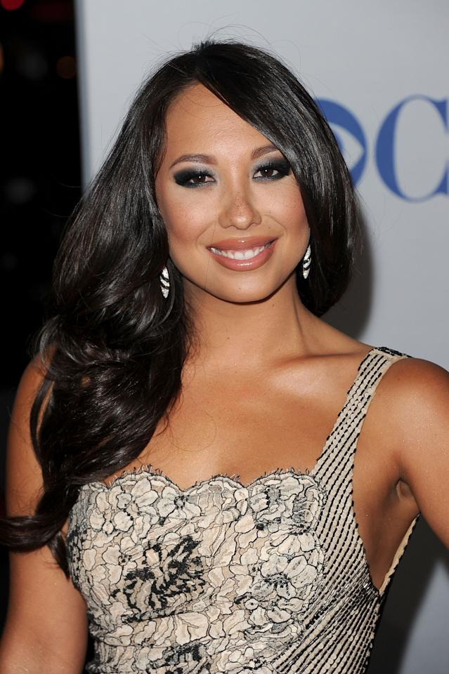 LOS ANGELES, CA - JANUARY 11:  TV personality Cheryl Burke arrives at the 2012 People's Choice Awards held at Nokia Theatre L.A. Live on January 11, 2012 in Los Angeles, California.  (Photo by Jason Merritt/Getty Images)