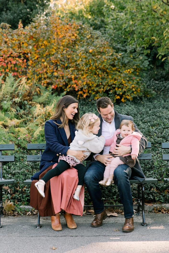The author with her husband and two daughters. (Stephanie Sunderland)