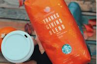 "<p>Starbucks solidified its corner on the holiday drink market by creating a limited-edition <a href=""https://news.starbucks.com/news/starbucks-thanksgiving-blend-coffee-2016"" rel=""nofollow noopener"" target=""_blank"" data-ylk=""slk:Thanksgiving Blend"" class=""link rapid-noclick-resp"">Thanksgiving Blend</a> coffee. The flavors were designed to complement the entire meal, from roast turkey to pumpkin pie. Coffee doesn't just pair with dessert anymore. </p>"