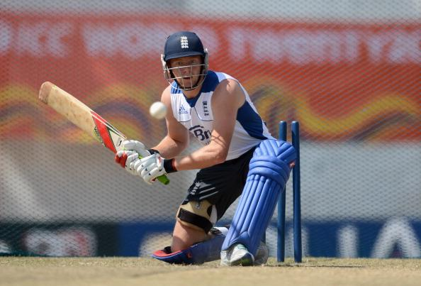 KANDY, SRI LANKA - SEPTEMBER 30:  Jonathan Bairstow of England bats during a nets session at  Asgiriya Stadium on September 30, 2012 in Kandy, Sri Lanka.  (Photo by Gareth Copley/Getty Images)
