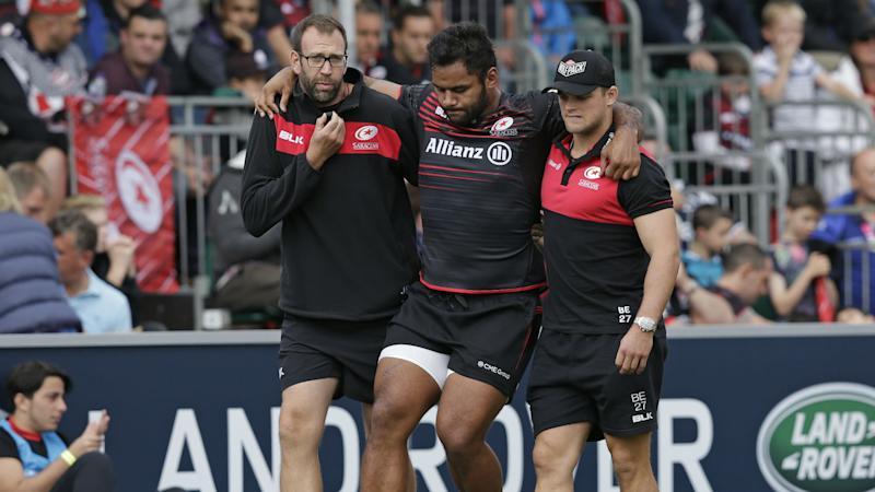Vunipola injured in Saracens rout, Tigers and Falcons win on the road