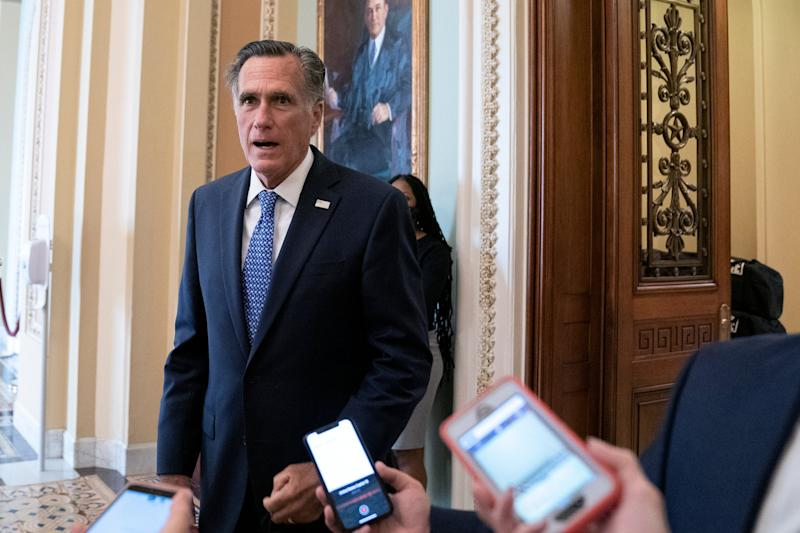 Senator Mitt Romney said he will vote on Donald Trump's Supreme Court pick 'based on their qualifications' (Getty Images)