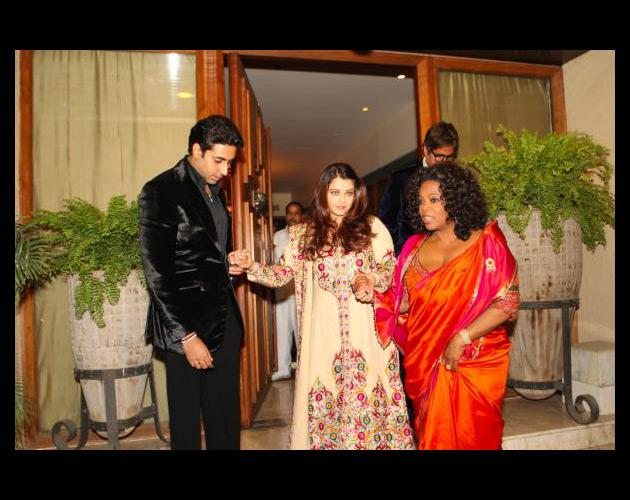 "Oprah Winfrey, who was in India recently tweeted a picture of her with Aishwarya and Abhishek. She wrote ""India was a real #NextChapter dream for me. Leaving home of Abhishek & Aishwarya having just seen their gorgeous baby. Coming up - pictures from the party Bachchans hosted for Oprah."