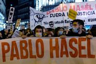 Hasel was convicted over tweets calling former king Juan Carlos I a mafia boss and accusing police of torturing and killing demonstrators and migrants