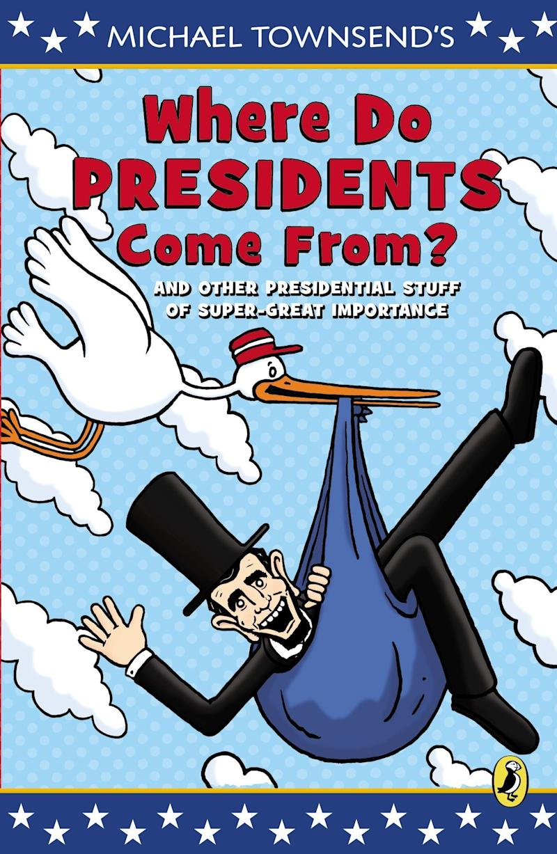 """This comic book shares basic information and fun facts about presidents, elections, governing and more. <i>(Available <a href=""""https://www.amazon.com/Where-Presidents-Come-Presidential-Importance/dp/0147510708"""" target=""""_blank"""" rel=""""noopener noreferrer"""">here</a>)</i>"""